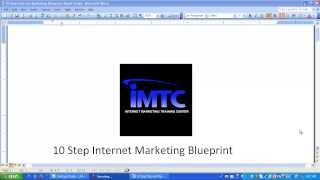 10 Steps Internet Marketing Blueprint