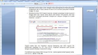 Pelatihan Internet Marketing dan SEO - Mudah Menuju Halaman Satu Google