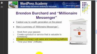 Brendon Burchard's model of internet marketing and business development