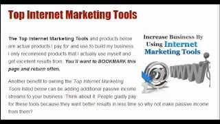 Top Internet Marketing Tools by Steve Roth