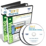 How to Build a Web Site plus SEO Search Engine Optimization Tutorial Training on 2 DVDs, 19 Hours in 184 Video Lessons. Computer Software Video Tutorials.