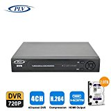PLV 8CH 720P CCTV DVR H.264 8 Channel Digital Video Recorder with analog hybrid ip three video input for Security Camera System Mobile Phone Monitoring Motion Detection